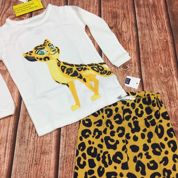 GAP Other - Baby Gap 6 12 18 Month Lion Guard Cheetah Pajamas
